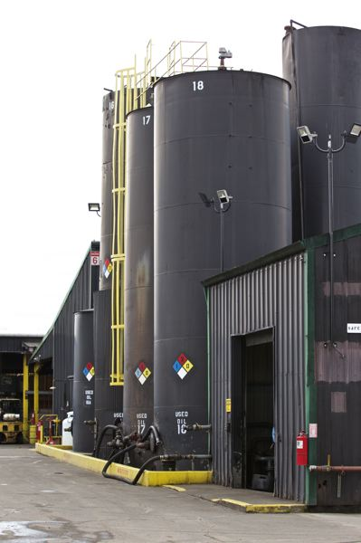 TRIBUNE PHOTO: JAIME VALDEZ - ORRCO recycles used motor oil at this site in North Portland.