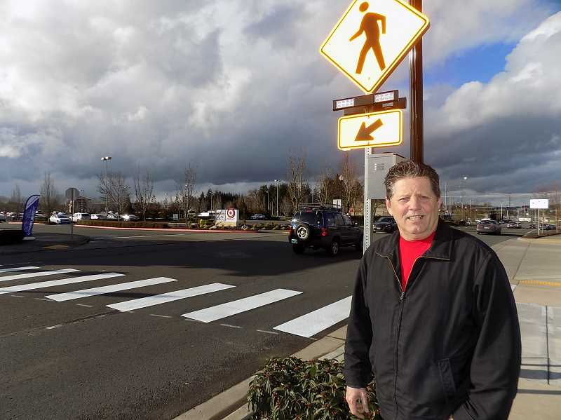 Pedestrian signal installed on Langer Farms Parkway