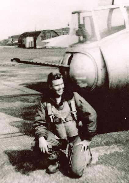 CONTRIBUTED PHOTO: MATT NORQUIST - Norman is pictured with a B-17 bomber during his days in the Army Aircorps. He served as tail gunner in the European Theatre during World War II.