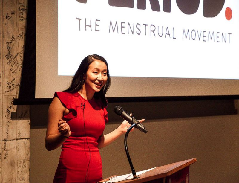 COURTESY: PERIOD. - Nadya Okamoto held a gala in Portland around Christmas to promote the new name.