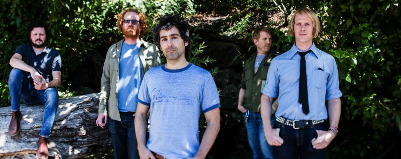 COURTESY: KATE SZROM - Blitzen Trapper has put out eight albums and tour for years, but doing a theater production will be a new experience. The members: (from left) Michael Van Pelt, Marty Marquis, Eric Earley, Brian Adrian Koch, Erik Menteer.