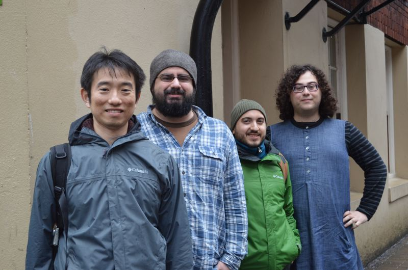 SPOTLIGHT PHOTO: NICOLE THILL - Portland State University graduate students Taka Shiegematsu, Nathan Williams, Jonathan Morales and Daniel Shor will work with the city of St. Helens and residents to develop a recommended park expansion for Columbia View Park. A fifth student who is not pictured, Paul Gagliardi, will also work with the group.