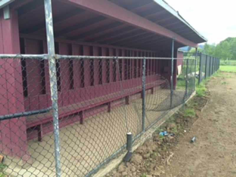 The dugouts and fences at the field were in disrepair until recently.