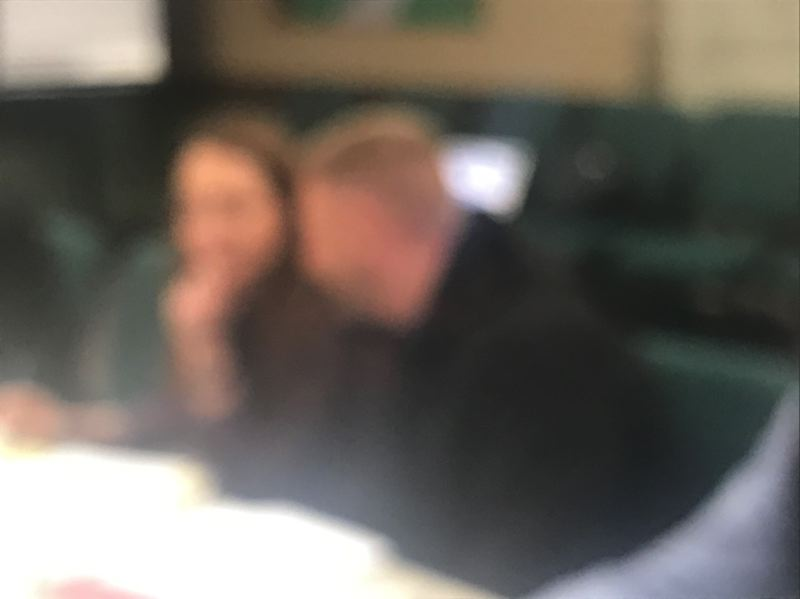 OUTLOOK PHOTO: ZANE SPARLING - Confederated Tribes lawyer Jennifer Biesack and chief engineer Jesse White whisper to each other during a property owner's meeting at Wood Village City Hall. The Grand Ronde's plans for Wood Village remain hazy, out of focus.