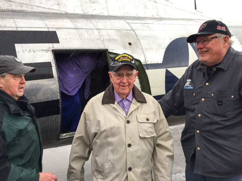 PMG PHOTO - Norman is pictured after his flight on the Madras Maiden. He said he was grateful to his family and friends, who fundraised to help make the $450 flight a reality.
