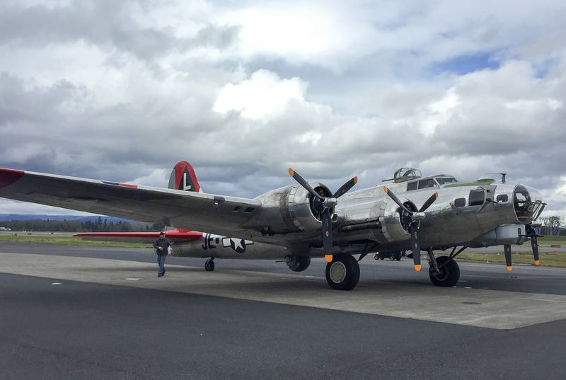 PMG PHOTO - The Madras Maiden is a restored B-17 bomber, one of the most well-known types of planes from the World War II era.