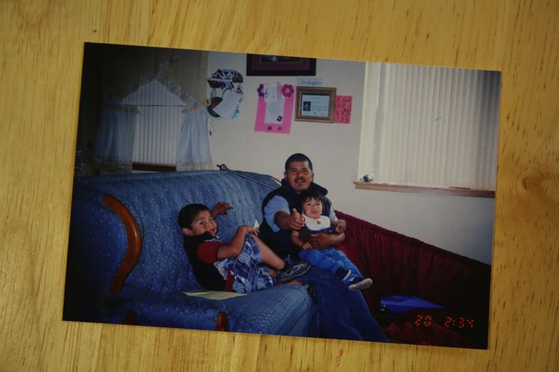 OPB PHOTO - Roman Zaragoza-Sanchez is shown here with two of his children.
