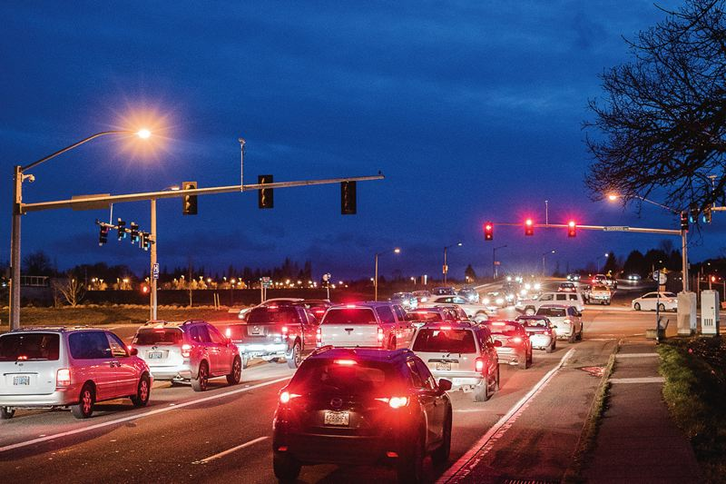 HILLSBORO TRIBUNE PHOTO: CHASE ALLGOOD - According to data, the intersection of Brookwood and Cornell has three times as many crashes as similar intersections in Washington County.