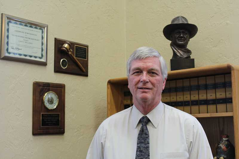 JASON CHANEY - After serving as circuit court judge in Crook and Jefferson counties for the past eight and a half years, Gary Williams announces his impending retirement and conclusion of a 43-year career in the Oregon Courts System.