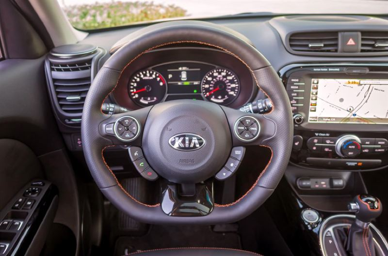 KIA MOTORS AMERICA - The optional leather interior in the 2017 Kia Soul gives it an upscale feel, and the latest technologies are available in the higher trim levels.