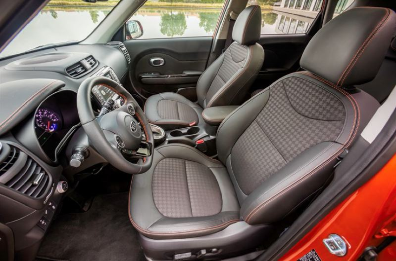 KIA MOTORS AMERICA - The front seats in the 2017 Kia Soul are very comfortable, and it rides as high as some SUVs, increasing the visibility of the driver.