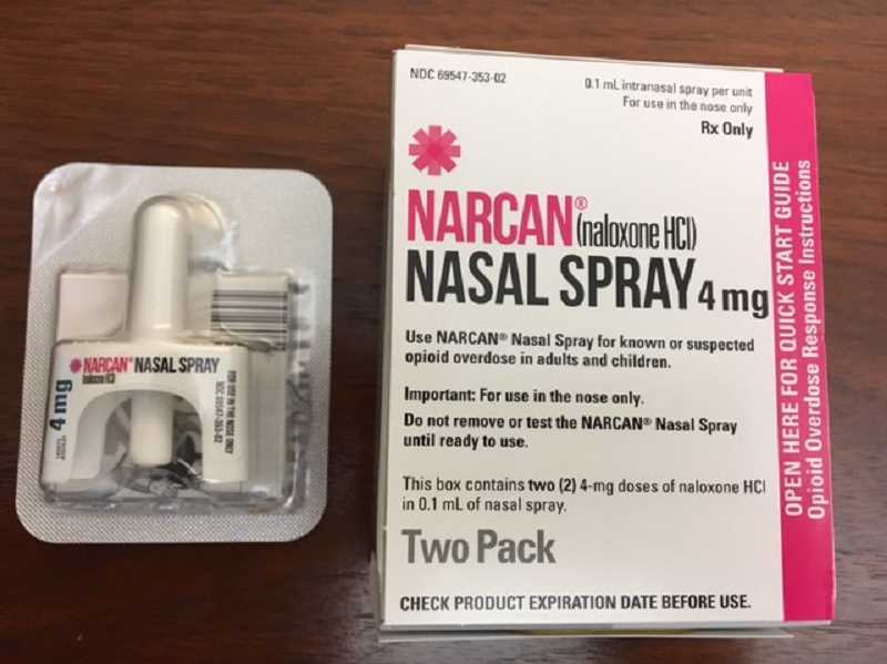 COURTESY PHOTO: CITY OF WOODBURN - All sworn Woodburn Police Department officers will soon carry an anti-opiate nasal spray, known commercially as Narcan, that reduces the toxic effects of opiate overdose. Woodburn is the seventh known law enforcement agency in Oregon to carry the serum.