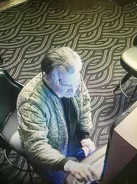 PHOTO COURTESY: OCPD - Surveillance cameras captured this man hitting and damaging the lottery machine screen located at 19011 S. Beavercreek Road