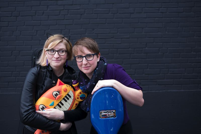 COURTESY PHOTO - Sisters Angela and Aubrey Webber, The Doubleclicks, did it again, gathering more than $72,000 in Kickstarter pledges for their new CD 'Love Problems.'