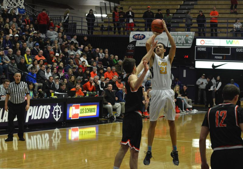 TIMES PHOTO: MATT SINGLEDECKER - West Linn senior Khalid Thomas scored 17 points on just 12 shots against Beaverton.