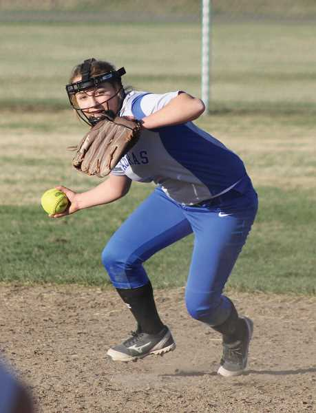 PIONEER FILE PHOTO - Senior Kianna Moschetti returns as a first-team All-TVC selection after leading the Buffs in fielding percentage as a second baseman last season.