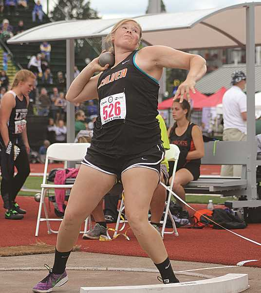 PIONEER FILE PHOTO - Culver junior Catylynn Duff just missed out on two state medals last year in the discus and shot put, in which she finished third and ninth, respectively.