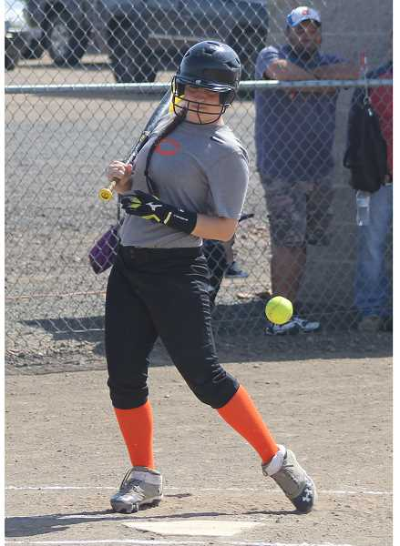 "PIONEER FILE PHOTO - Culver's all-league catcher Lorena Vasquez enters her sophomore season as the leader of a team that has several players new to softball. She quickly embraced the role last season as a freshman, and as head coach Carly Clark said, ""handled it with grace."""