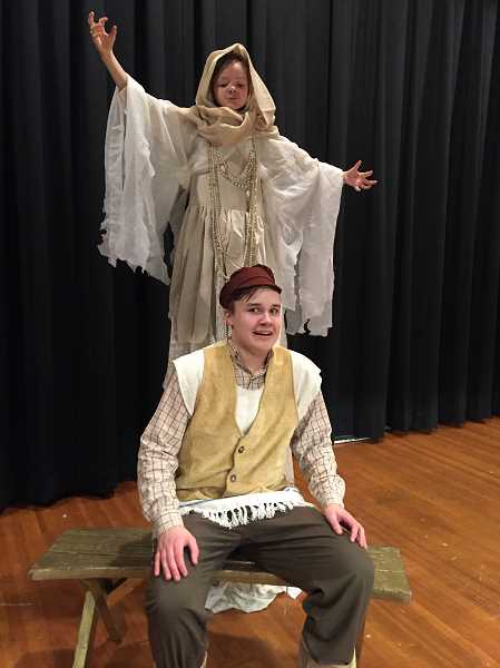 COURTESY PHOTO - Elizabeth Poole plays Frum Sarah and Luca Virjo is Tevye in Northwest Youth Theatre's production of 'Fiddler on the Roof Jr.