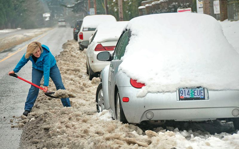 PORTLAND TRIBUNE FILE PHOTO - Portland residents frequently struggled during the winter storms to reach those streets that were plowed. Most weren't.