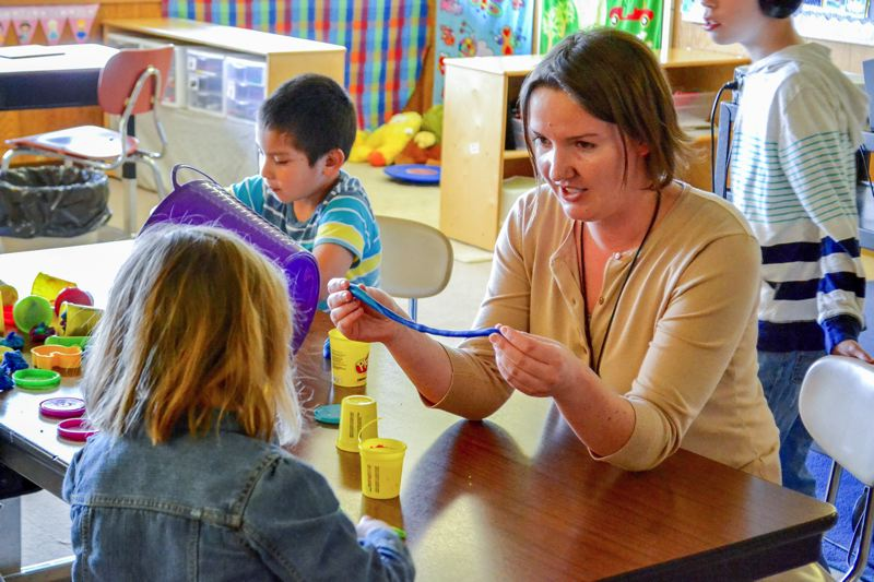 POST PHOTO: BRITTANY ALLEN - Ashley Allen works exclusively with students with special needs at Kelso Elementary.