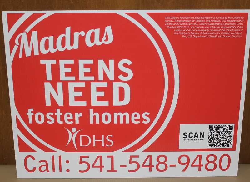 MADRAS PIONEER PHOTO - Signs are being placed around town to draw attention to the need.