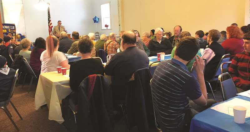 About 100 people attended the Pack 257 Blue and Gold, held at a Liberal church