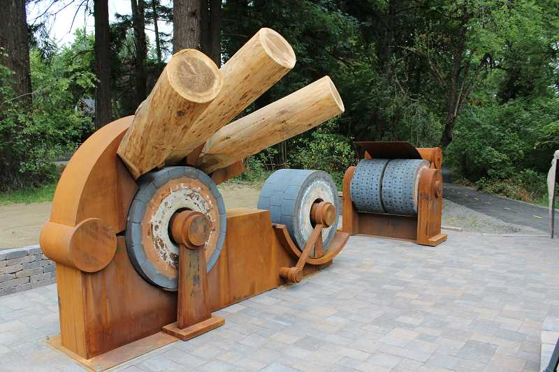 TIDINGS FILE PHOTO: PATRICK MALEE - The City hopes a revived arts commission will inspire more art pieces similar to the Grindstone sculpture in Willamette Park.