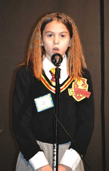 PIONEER PHOTO: CINDY FAMA - Teafan Ledbury performs, 'Harry Potter in 90Seconds'. Her adaptation of Jon Cozart's 'HarryPotter in 99 Seconds' at the eighth annual Stars onStage fundraiser.