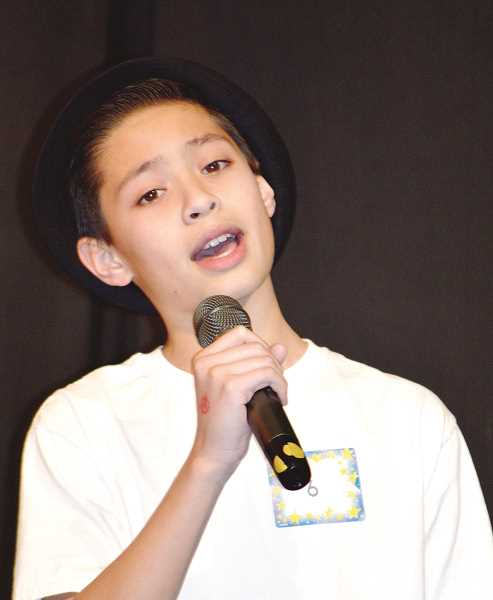 PIONEER PHOTO: CINDY FAMA - Javin GoDair sings Bruno Mars' 'Talking to theMoon', a song he dedicated to his late grandmother.
