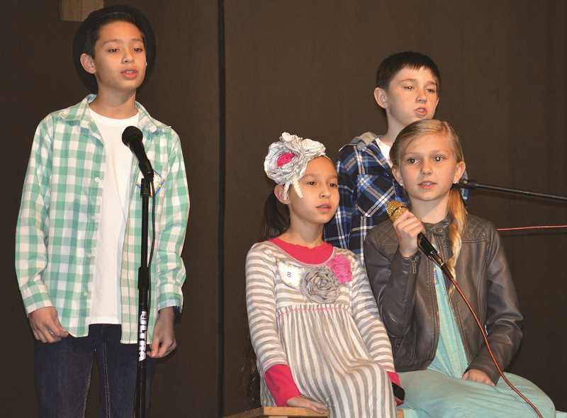 PIONEER PHOTO: CINDY FAMA - The Lost Kids, Javin GoDair, Anna GoDair, Levi Beach and Rylee Beach perform Ruth B's 'Lost Boys' at theeighth annual Stars on Stage fundraiser.