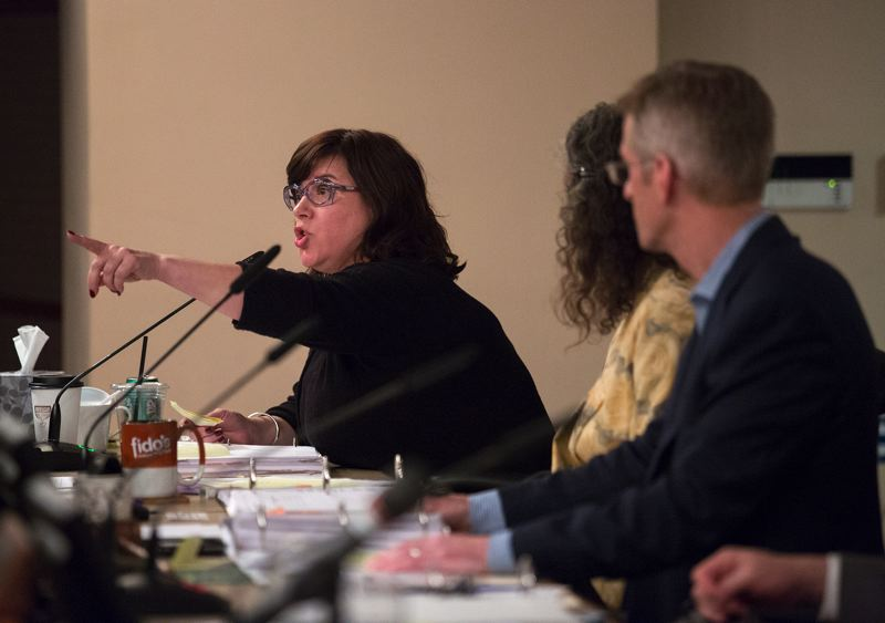 PORTLAND TRIBUNE: JONATHAN HOUSE - Commissioner Chloe Eudaly admonished many of the protesters for their behavior while explaining her vote in favor of Mayor Ted wheeler's measure to limit disruptions at future meetings.