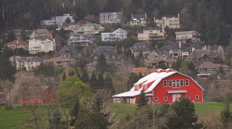 REVIEW FILE PHOTO: VERN UYETAKE - The north Stafford area, west of West Linn, is a mix of rural farms and large-lot houses, along with pockets of more densely built residential areas.