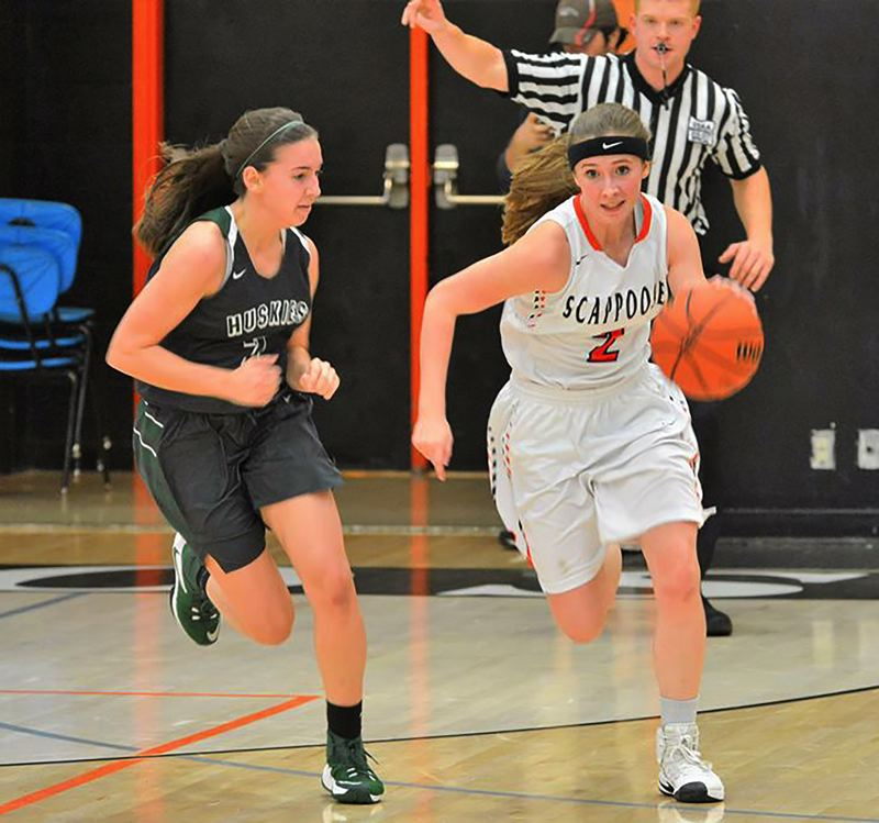 SPOTLIGHT PHOTO: JAKE MCNEAL - Indians junior guard Lea Brodala (2) is an all-Cowapa League honorable mention.