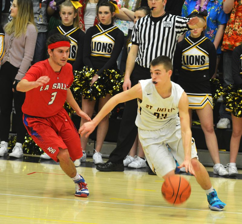 SPOTLIGHT PHOTO: JAKE MCNEAL - Lions junior guard Drake Dow is an all-Northwest Oregon Conference third-teamer.