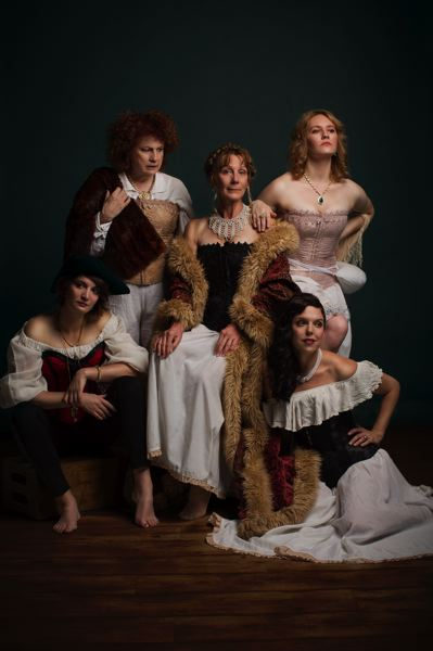 COURTESY: GARY NORMAN - CoHo Productions' 'Playhouse Creatures' features (clockwise from left) Brenan Dwyer, Jacklyn Maddux, Lorraine Bahr, McKenna Twedt and Dainichia Noreault.