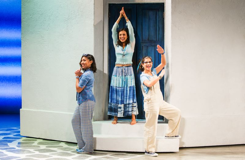 COURTESY: KEVIN THOMAS GARCIA / MAMMA MIA - Actresses Niki Badua, Lizzie Markson and Chloe Kounadis perform 'Mamma Mia' on its exciting final farewell tour. It stops in Portland from March 24-26.