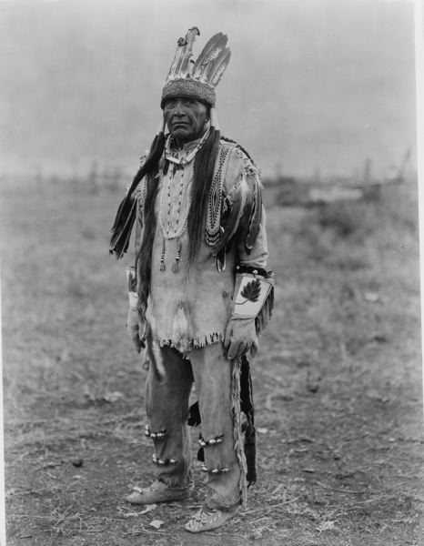 COURTESY: EDWARD CURTIS/THE LIBRARY OF CONGRESS - Shown is an Indian from the Klamath tribe. OPB producer Eric Cain traveled all over the state to talk to tribes who still live in Oregon for a new documentary, 'Broken Treaties.'