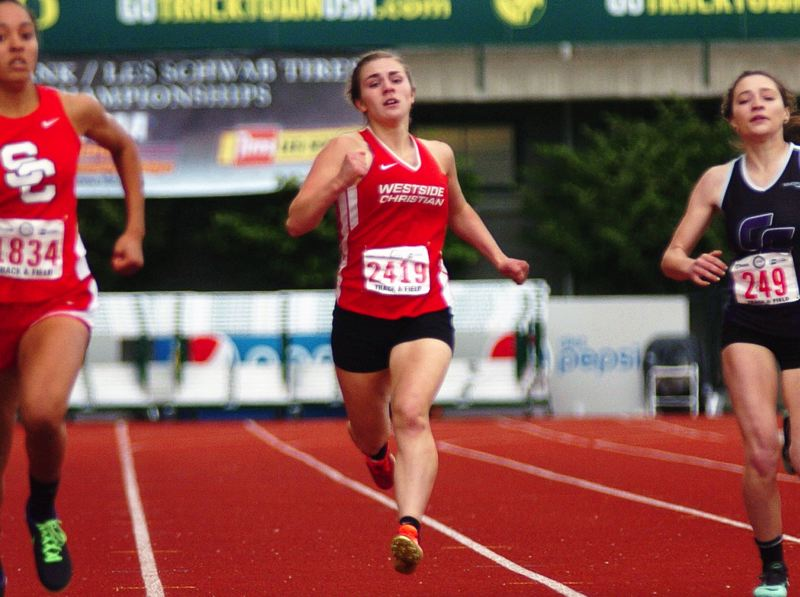 DAN BROOD - Westside Christian senior Emily Curtis is the defending Class 3A state champion in the 800-meter run.
