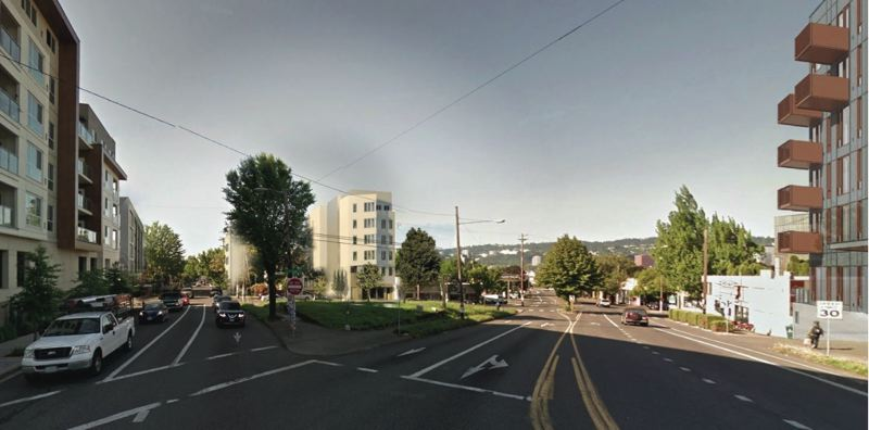 SUBMITTED - In context, the area around Sandy and Burnside is full of tall apartment complexes.