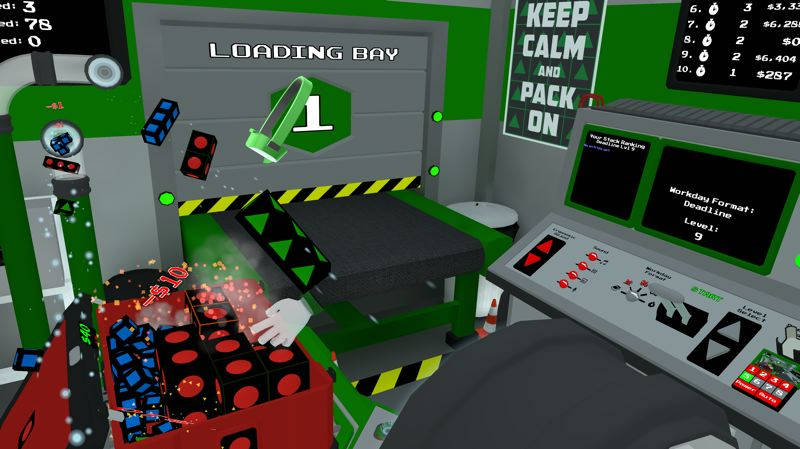 COURTESY: THINKON LABS - The VR game Ship It made by ThinkOn Labs, allows a player to pack boxes. The makers see VR as a chance to re-explore old genres such as puzzles and paddle games.