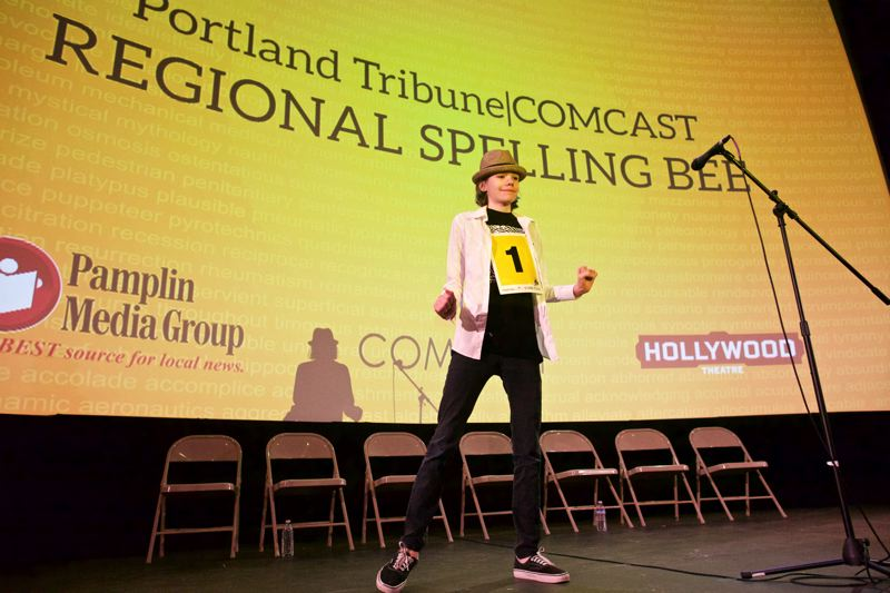 TRIBUNE PHOTO: JAIME VALDEZ - Winner Anna-Livia Regan of Southwest Portland charmed the audience and judges with her skills and humor.