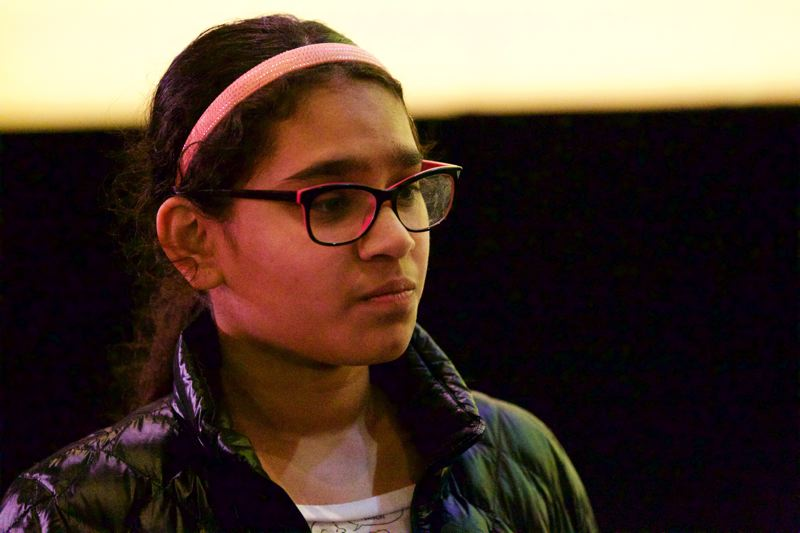 TRIBUNE PHOTO: JAIME VALDEZ - Beaverton's 14-year-old Padmini Bhagavatula won a tie-breaker to be the contest's runner-up.
