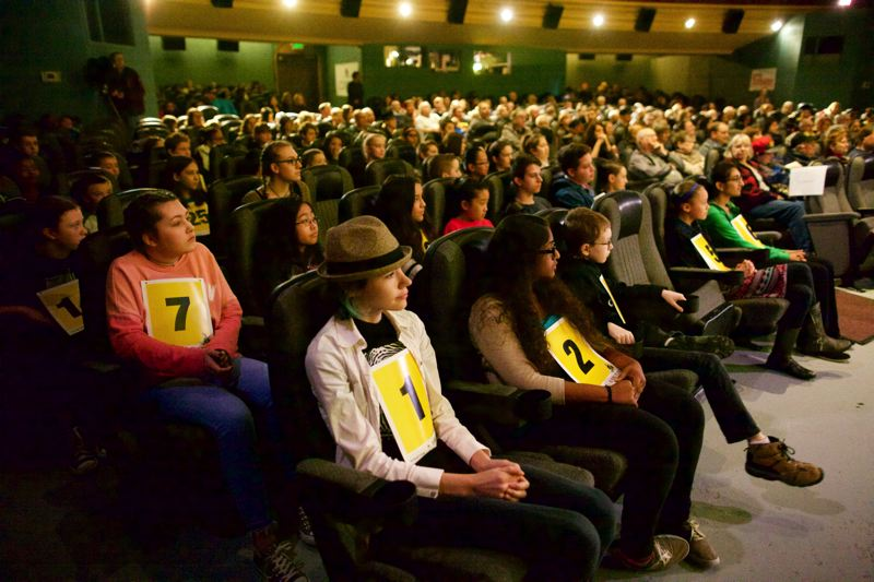TRIBUNE PHOTO: JAIME VALDEZ - Students from five regional counties competed in Saturday's 14th annual spelling bee.