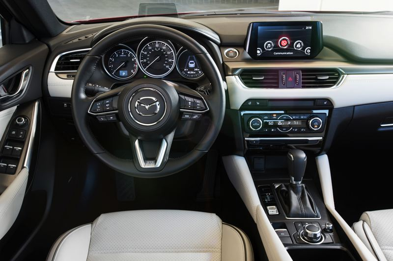 MAZDA MOTOR CORPORATION - The interior of the 2017 Mazda6 is refreshingly clean and simple, which helps give the front cabin a light, airy feel.