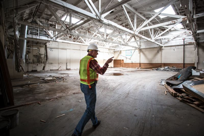 PORTLAND TRIBUNE: JONATHAN HOUSE - The inside of one of three buildings at Centennial Mills that the Portland Development Commission had originally hoped to save.