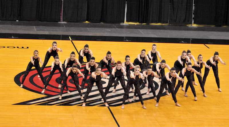 SUBMITTED PHOTO: COURTESY OF LAKER DANCE TEAM - The Lake Oswego High School dance team took second place in the 6A category at the state championships on Saturday in Portland.