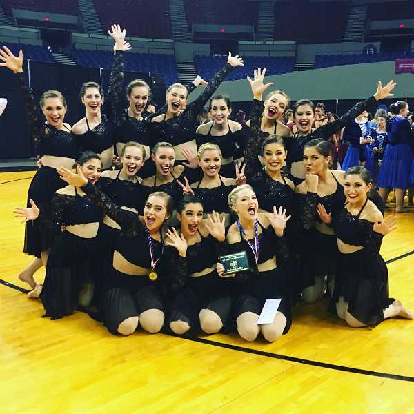 SUBMITTED PHOTO: ELISSA BOUDREAU - The Lakeridge High School dance team made it into the final round in the state championships on Saturday, and the Pacers were ranked ninth in the 6A category at the event at Veterans Memorial Coliseum.