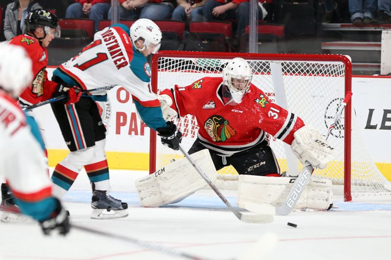 COURTESY: BRYAN HEIM/PORTLAND WINTERHAWKS - Cole Kehlers goaltending anchors the Winterhawks defense as Portland goes into the Western Hockey League postseason.