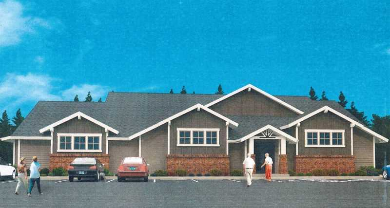 COURTESY OF THE KING CITY CIVIC ASSOCIATION - An architect's rendering shows the exterior of the new 6,300-square-foot KCCA Aquatic Center that is expected to open in the fall.